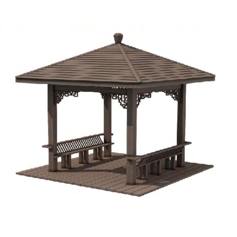 Amercian-Style-Square-WPC-Pavilion-Outdoor